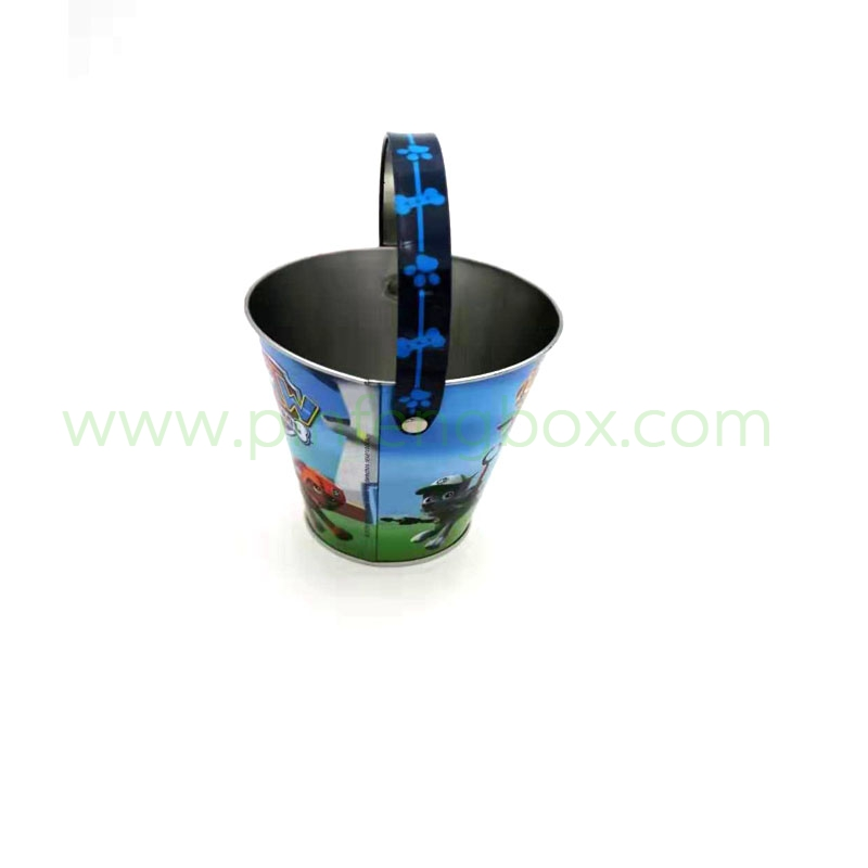 厂家供应马口铁异形铁盒水桶手提铁盒玩具收纳铁盒铁盒定制