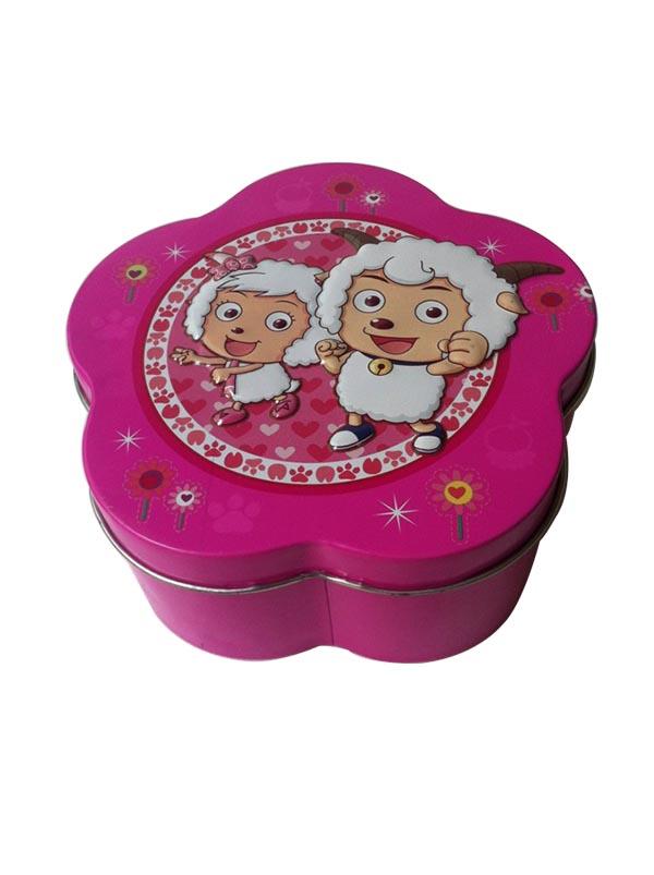 梅花形糖果鐵盒包裝