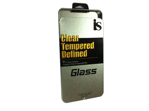 推拉铁盒 手机防爆钢化玻璃铁盒