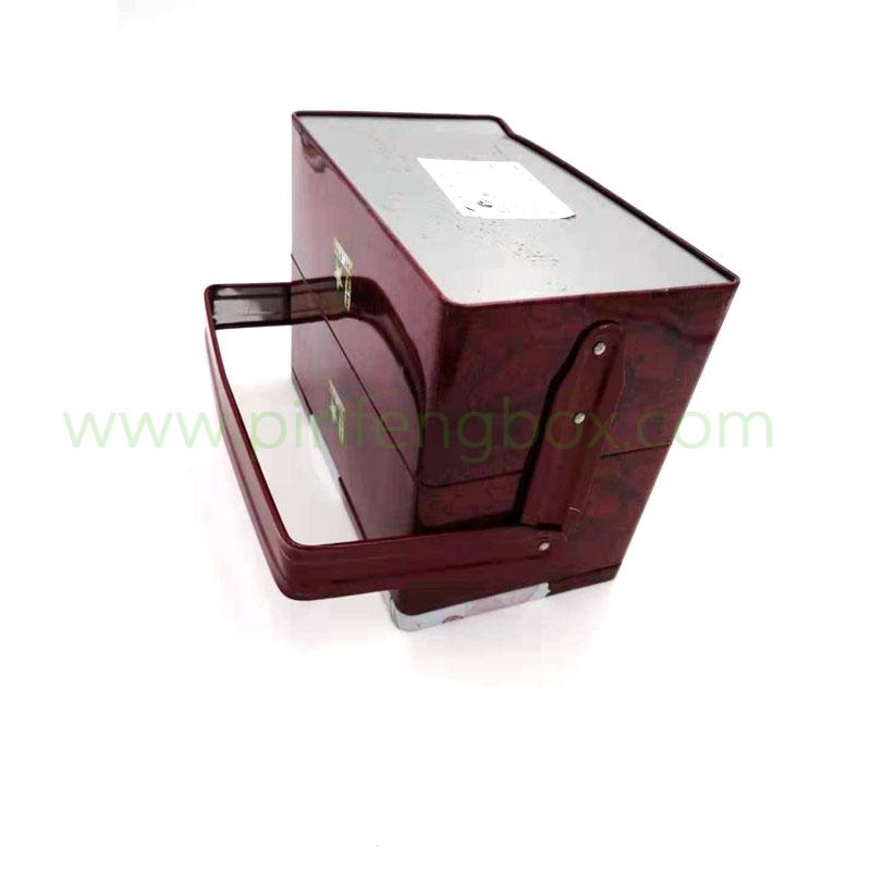 直营厂家 马口铁盒制作手提铁盒产地货源 锁扣礼品铁盒定制