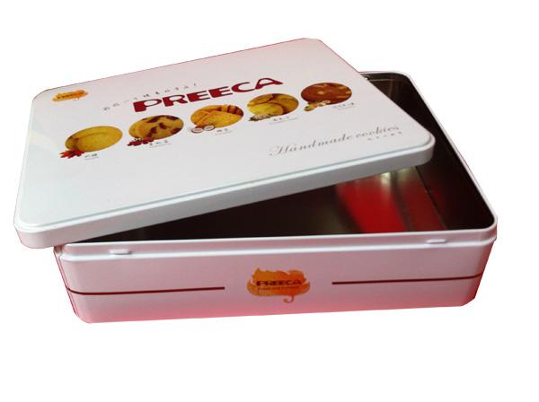 马口铁厂家 订制各种型状饼干收纳铁盒精美食品金属礼品铁罐