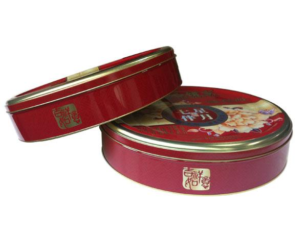 广东月饼独立铁盒包装 定制马口铁月饼盒