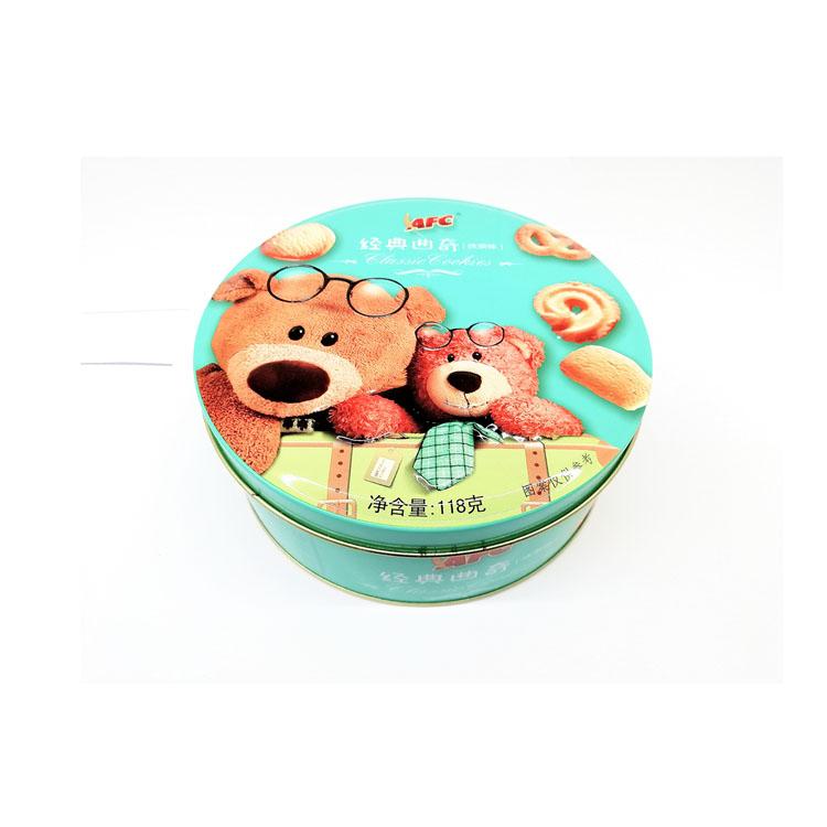 小熊饼干铁盒包装图片