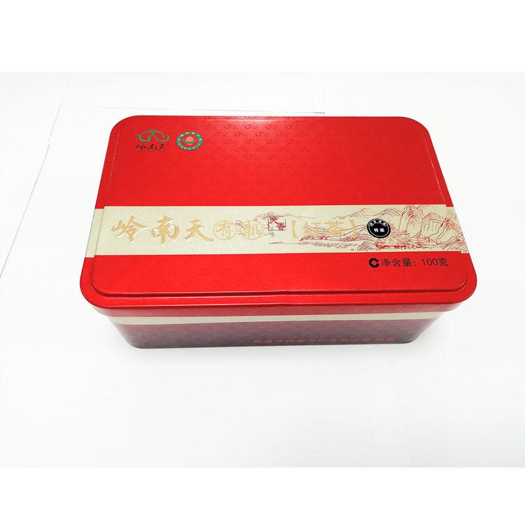 银骏眉红茶铁盒包装