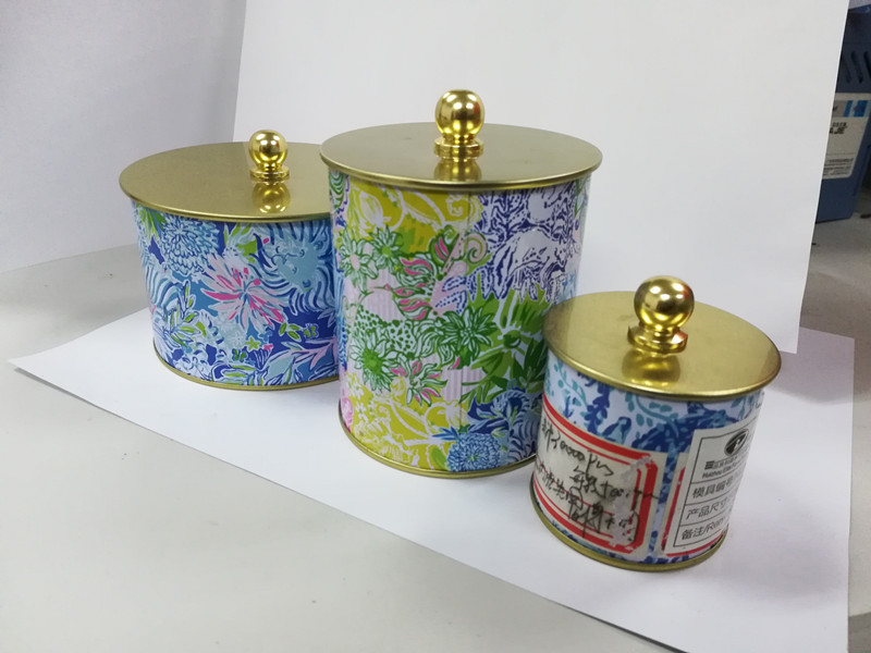 茶叶罐糖果盒 马口铁圆形铁罐110*70mmH