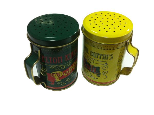 马口铁手腕罐 带孔胡椒粉罐