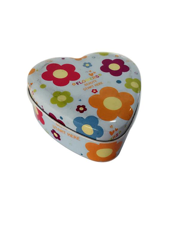 复活节礼品 心形糖果铁盒