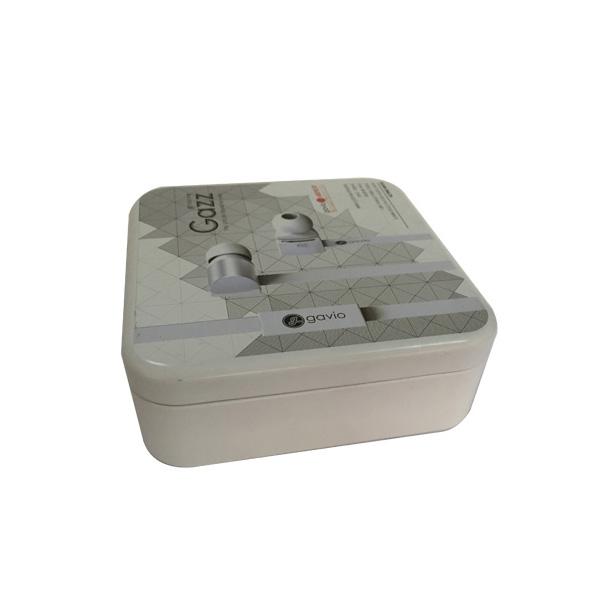 正方形缩口铁盒,马口铁包装盒,耳机铁盒厂家定制